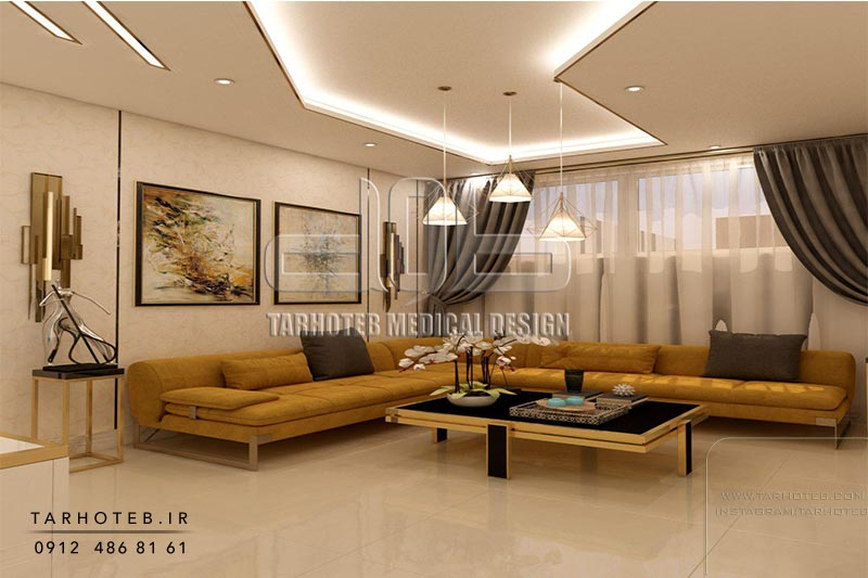 ترکیب-رنگ-کاغذ-دیواری-اتاق-انتظار-و-اتاق-پزشک-مطب-دندانپزشکی