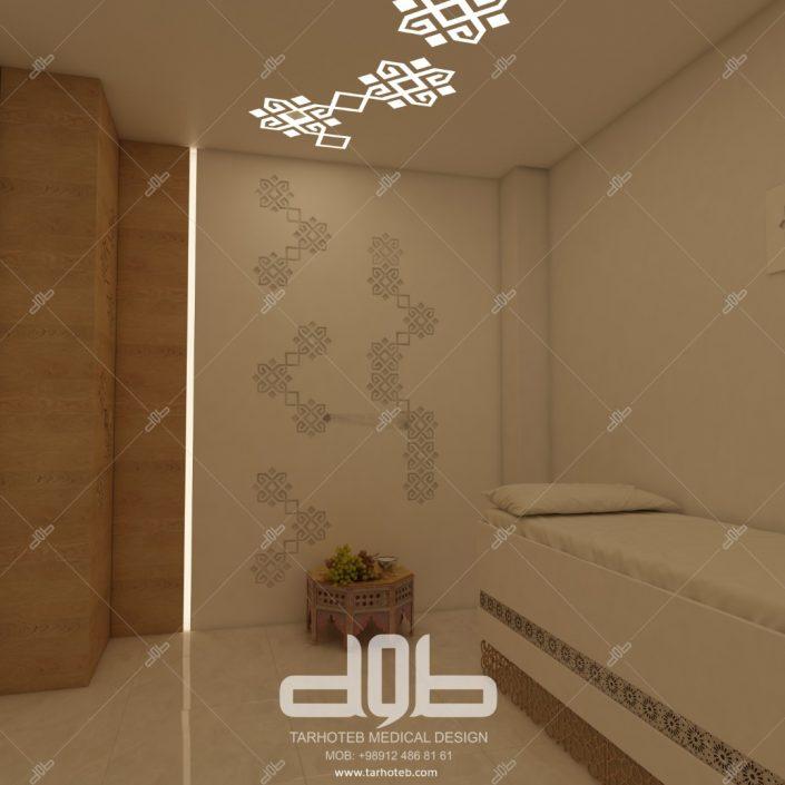 طراحی اتاق بیمار دکتر جلالی فرد
