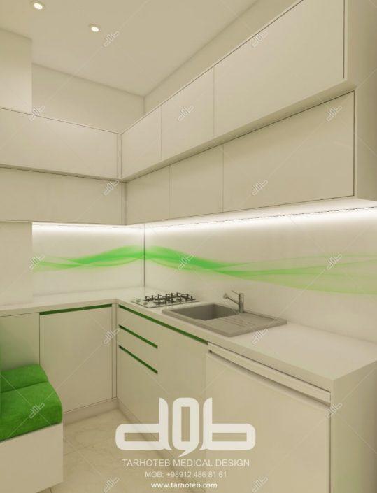 آشپزخانه مطب دکتر