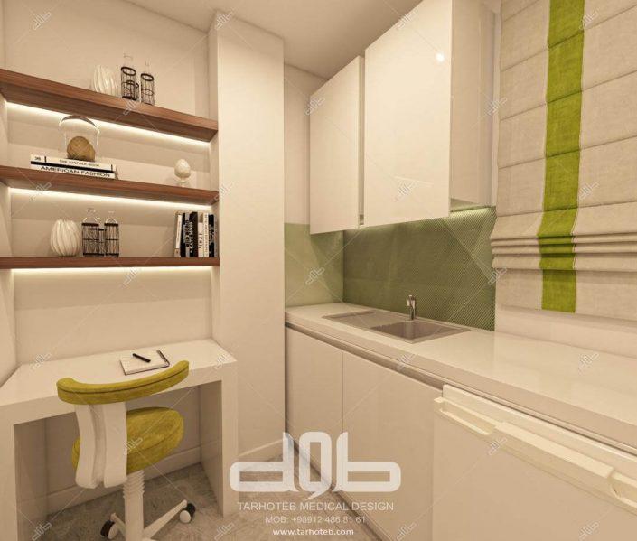 آشپزخانه مطب دکتر صابری