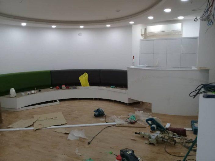 اجرای کابینت، قفسه، میز مطب دکتر خاکی (1)