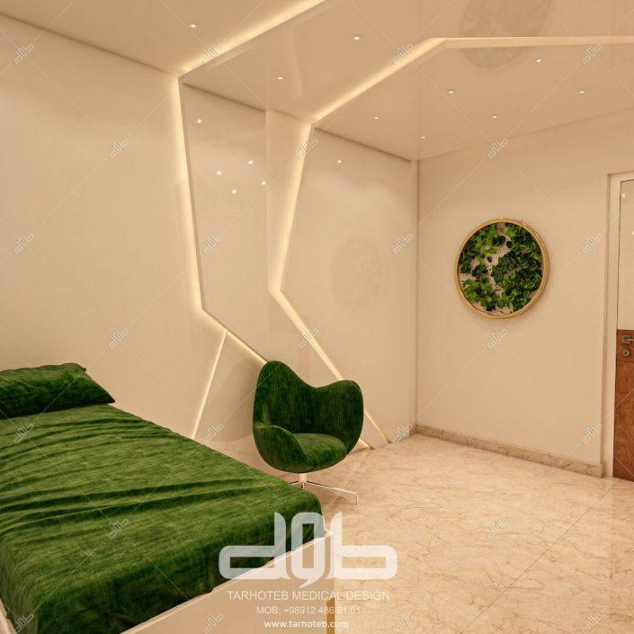 اتاق استراحت بیمار مطب دکتر محمدیانی نژاد