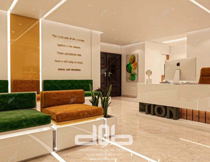 دیزاین درب ورودی مطب دکتر محمدیانی نژاد