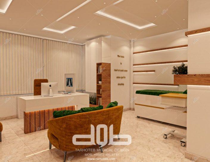 نمای کلی اتاق مطب دکتر محمدیانی نژاد