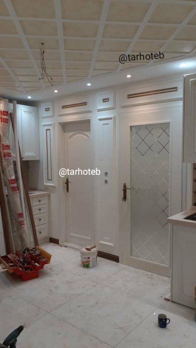 اجرای دکورهای چوبی و نصب درب های مطب دکتر مقدم (3)