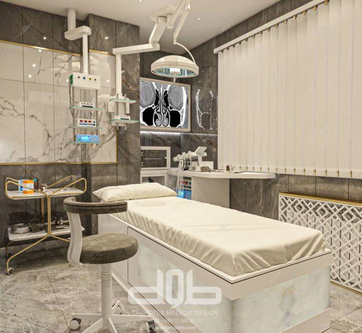 طراحی اتاق بیمار مطب دکتر راستا