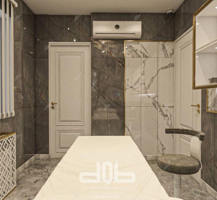 طراحی درب اتاق در مطب دکتر راستا