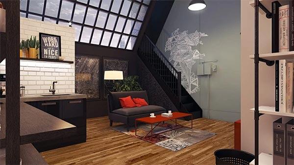طراحی اتاق انتظار توسط طراح داخلی Decorilla ، Mladen C