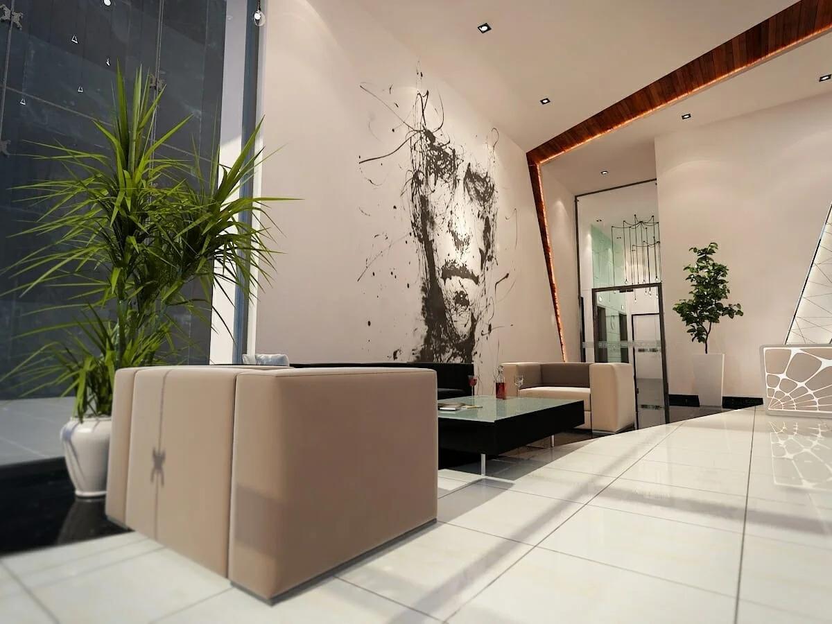 طراحی اتاق انتظار دندانپزشکی خلاق توسط طراح داخلی Decorilla ، هایتهام دی