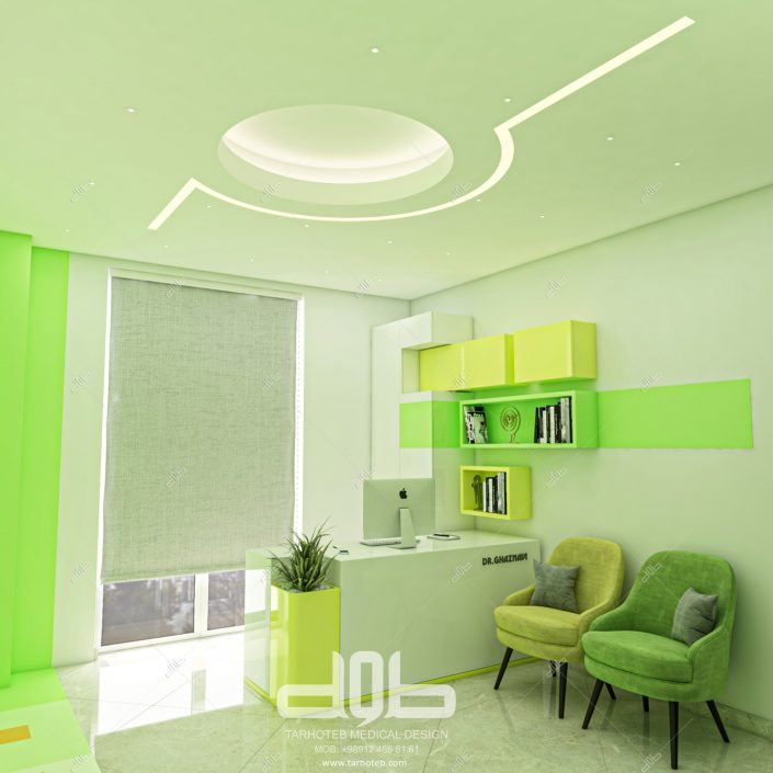 نورپردازی حرفه ای مطب دکتر غزنوی-min